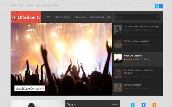Fashion TV Portal Designed by Red Panda Solutions