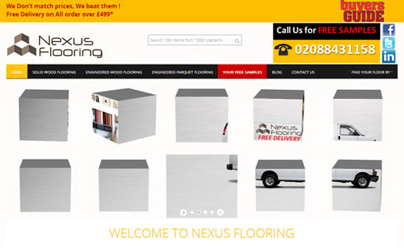 Responsive Flooring Website Development