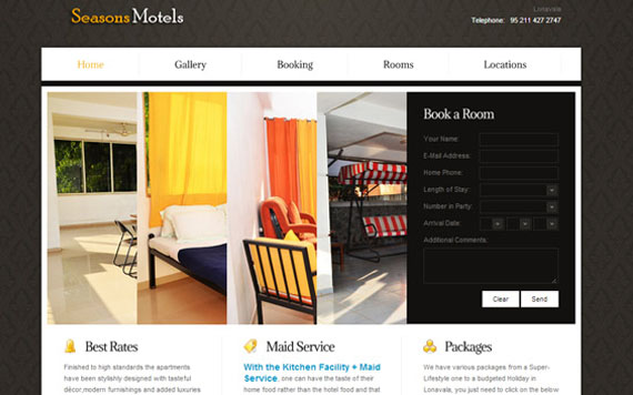 HTML5 Hotel's Website Development
